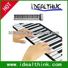 taşınabilir 61 tuşları Esnek elektronik piyano rulo yumuşak klavye midi dijital organ synthesizer