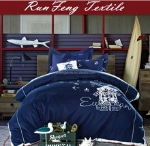 The Best Fashion Bedding 100% cotton personality style-Navy