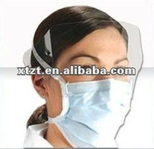hypoallergenic against/anti-fog disposable nonwoven white face mask(lens mask) for surgical and medical use