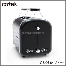 top sale extra wide slots and anti-jam function electrical motel kitchen appliances retro 2 slice bread toasters
