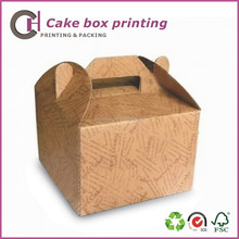 Food packaging for cake packing by kraft paper