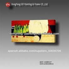 resumen colorido figuras de arte pinturas al óleo sobre lienzo