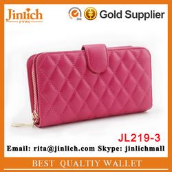 New model girls gift lether wallet genuine sheepskin purse