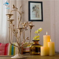 Unique design handmade tree shaped metal candle holder christmas lantern