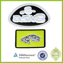 Cute natural material Custom made Christmas gifts reflective badge