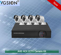 Popular Economic 4CH 720P AHD camera Kits CCTV Camera System