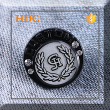 2015 black and white 22 mm rhinestone factory manufacturer button from china
