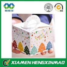 Gift paper box for merry christmas/christmas gift paper packaging/apple packaging box with handle for christmas