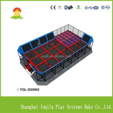 Big kids trampoline/jumping bed with sea ball pool