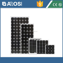 100W Monocrystalline Flexible Solar Panel for caravans golf cars boats with A grade solar cell