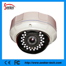 Metal Case Varifocal Vandalproof Dome P2P Onvif CCTV HD IP Camera 1080P