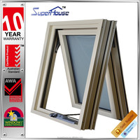 Australia standard double glazed top hung aluminium hung window with new design