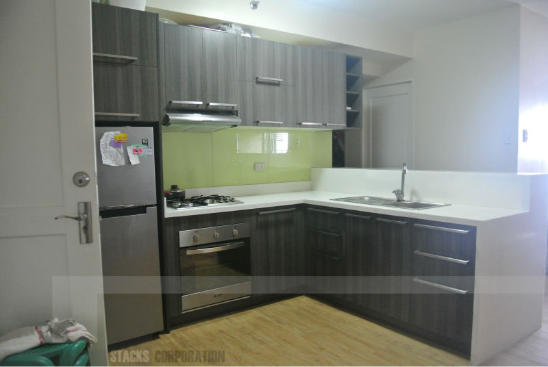 Modular kitchen cabinets in sta mesa manila philippines for Small kitchen design pictures philippines