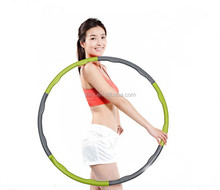 Foam covered weighted hula hoop for fitness
