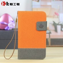 Leather flip phone case for sony with fashion design nice looking