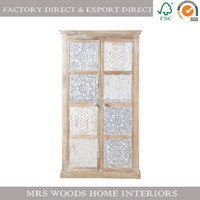 french antique vintage wooden bedroom wall wardrobe design