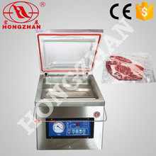 price for hongzhan DZ300 stianless steel vegetables fruit single chamber durian vacuum package sealer