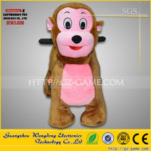 Monkey coin operated fiberglass animal kiddie rides for kids
