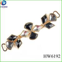 wholesale glass decorative HW6192 jeweled sandals shoe accessories