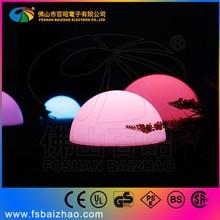 IP68 Waterproof LED half Ball on grass /garden decoration orb light