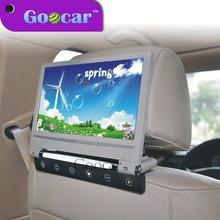 Super Slim and flip down 220 degree 9 inch headrestdvd player for car