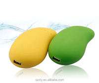 wholesale alibaba best seller &excellent christmas gift Mini mango shaped portable touch-switch 5200mah with mirror power bank