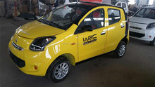 Yellow smart electric car