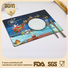 Wooden Mdf Christmas Cork Placemats And Coasters Set
