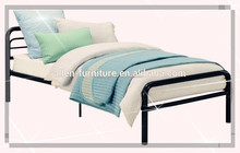 Modern design popular twin size single metal bed black color Metal Bed twin size black 31X78""