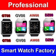 Shenzhen smart phone factory DZ09 smart watch, smart phone DZ09 android bluetooth