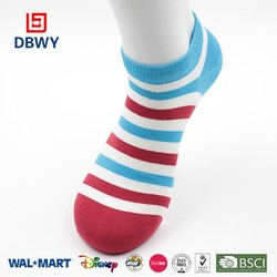 2015! Custom Design Strip Cotton Girl Socks China Manufacturer in High Quality!