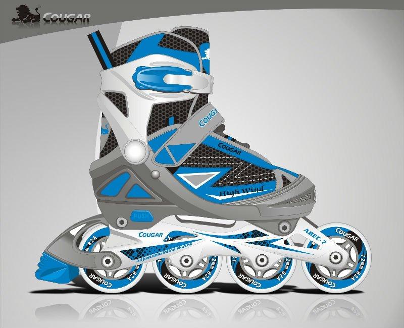 Cougar vr11-e, skate inline enfants, roller chaussures, courses de patins à roues alignées.