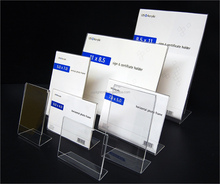 Promotional L shape Plastic Display Frames, Acrylic Photo Frames