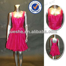 Pretty Fuchsia Taffeta Cocktail Dress For Children With Straps Cheap Plus Size Cocktail Dress