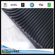 3-8mm Thickness High Quality High temperature Smooth sides ribbed pattern Insulation Rubber Mat heat resistant rubber sheet
