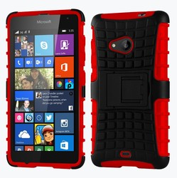 Heavy Duty Dual Layer Shockproof Plastic + Rubber Case Cover For Microsoft Lumia 535