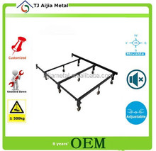 homes furniture cheap european style bed frame with wheels