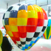 80cm fiber glass checkered balloon waterproof indoor/outdoor decorations/christmas or holiday decorations
