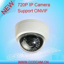 Barato caliente de la bóveda infrarroja 720 P 1.0MP cámara ip cloud para cámaras de vigilancia