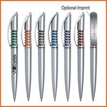 Promotional Cheap Plastic High-tech Spiral Design Ball Pen Supplier
