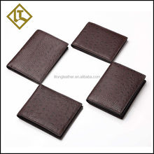 Super quality hot sale bifold print logo leather wallet case