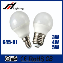2015 CE ROHS New led bulb G45 3W 4W 5W E27 E14 with Cheap Price Good Quality