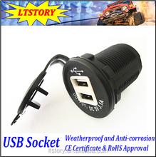 New style 12V 24V USB Power Output Adapter socket for Car Bus Boat