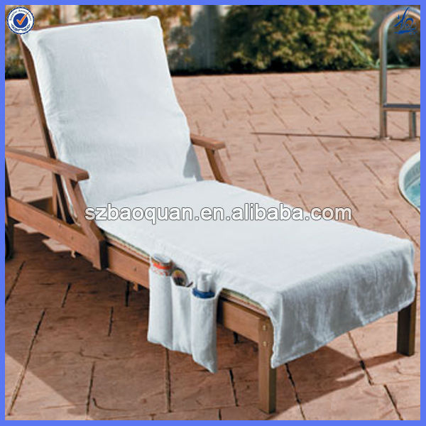 fun design beach towel lounge chair cover with pockets View lounge chair tow