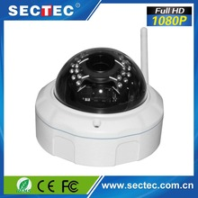 New product launch 2.2M CMOS dome vandalproof HD wireless p2p ip cctv camera