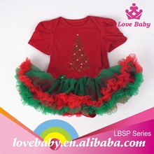 1-year-old-baby-clothes rhinestone Christmas tree baby romper