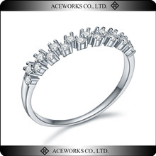Fashion wedding ring 925 sterling silver mirco zircon pave ring designs wholesale new product 2015 ring