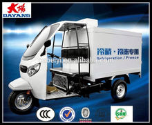 China Supplier 300cc Water Cooled Refrigerated 3 Wheeler Tricycle With Compressor