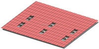 Solar Roof Mounting Brackets for Tile Roof Mounting , Home On-Grid System