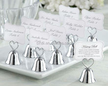 High Quality Wedding Favors Kissing Bell Place Card Holder